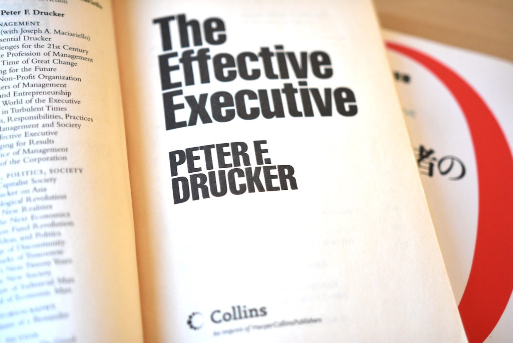 「経営者の条件」原書である英語版の扉